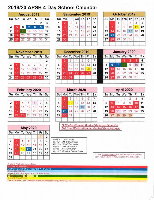 Avoyelles Parish School Calendar 2021 APSB releases post on 2019 20 school calendar | Avoyelles Today